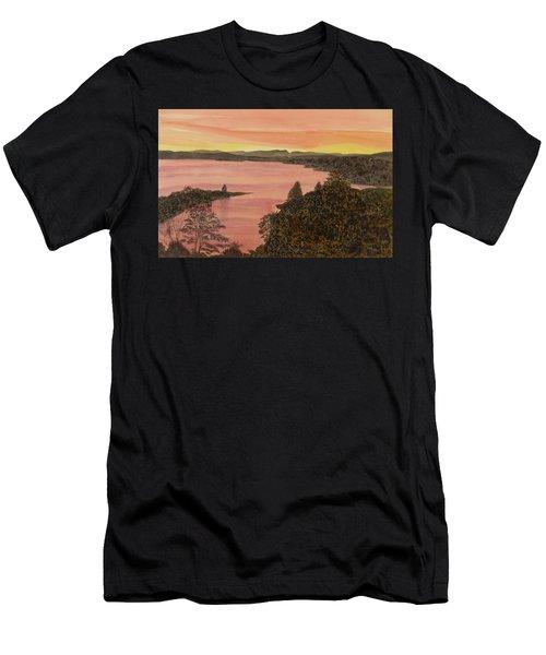 Cherokee Lake - Golden Glow Men's T-Shirt (Athletic Fit)