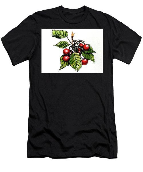 Cherries Men's T-Shirt (Slim Fit) by Terry Banderas