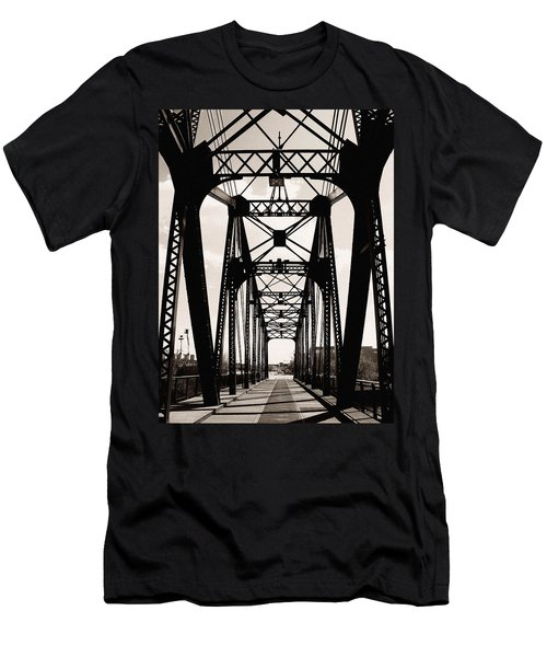 Cherry Avenue Bridge Men's T-Shirt (Athletic Fit)