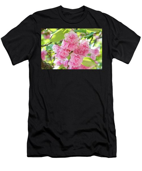 Cherry Blossom Cluster Men's T-Shirt (Athletic Fit)