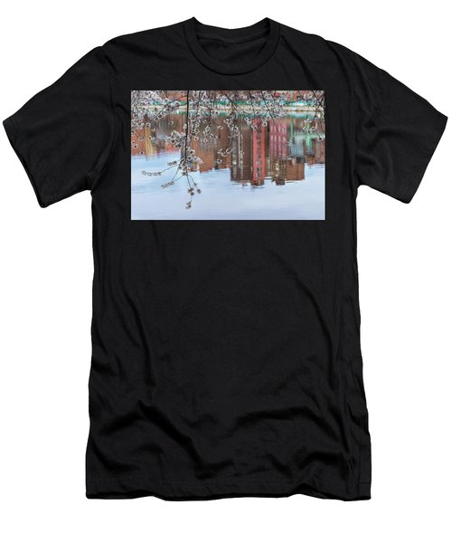 Cherry Blossom Reflections Men's T-Shirt (Athletic Fit)