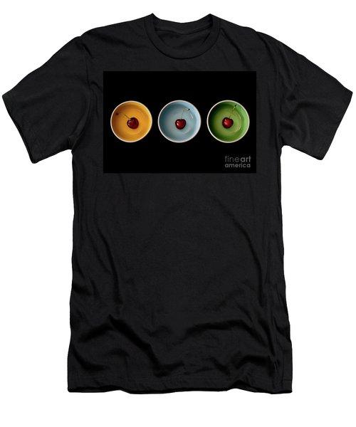 Cherry Color Block Experiment Men's T-Shirt (Athletic Fit)