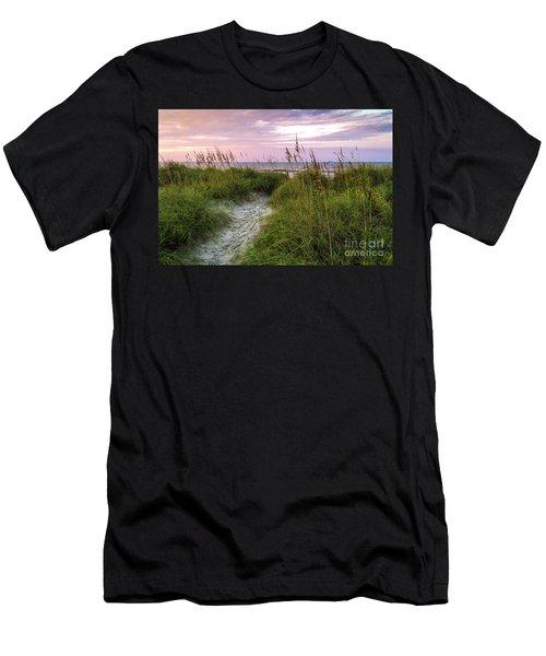 Cherry Grove Beach Scene Men's T-Shirt (Athletic Fit)