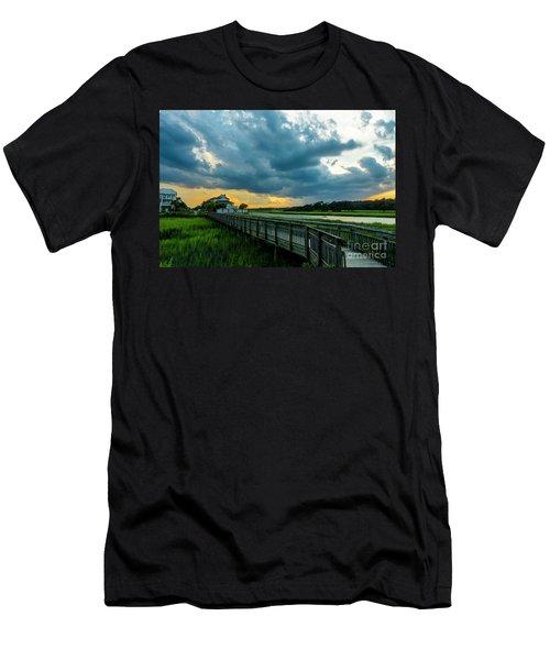 Cherry Grove Channel Marsh Men's T-Shirt (Athletic Fit)