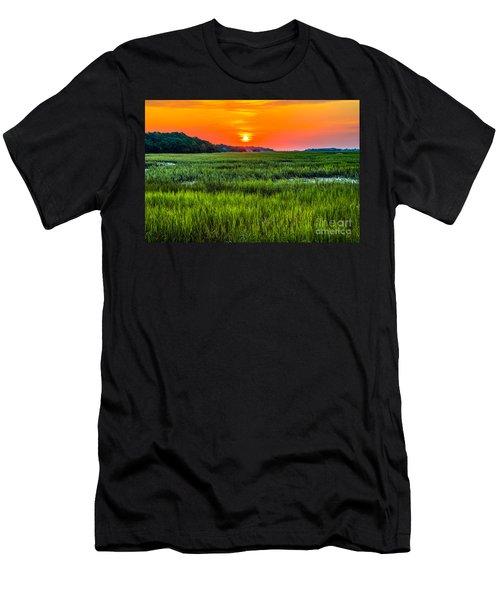 Cherry Grove Marsh Sunrise Men's T-Shirt (Athletic Fit)