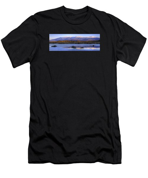 Cherry Pond Reflections Panorama Men's T-Shirt (Athletic Fit)