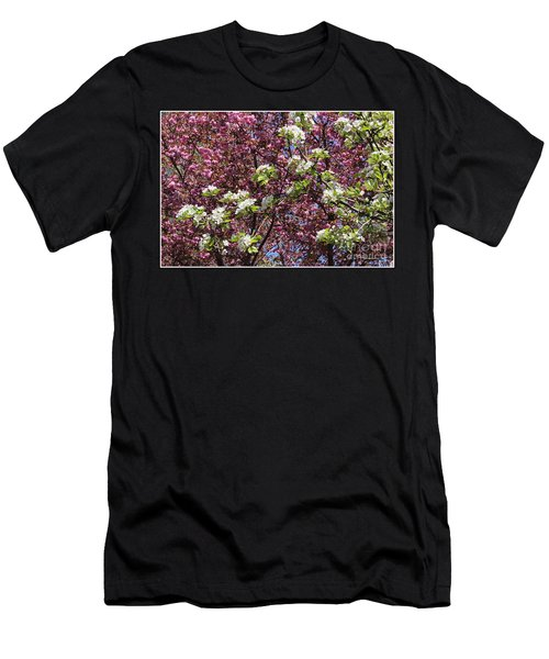 Cherry Tree And Pear Blossoms Men's T-Shirt (Slim Fit) by Dora Sofia Caputo Photographic Art and Design