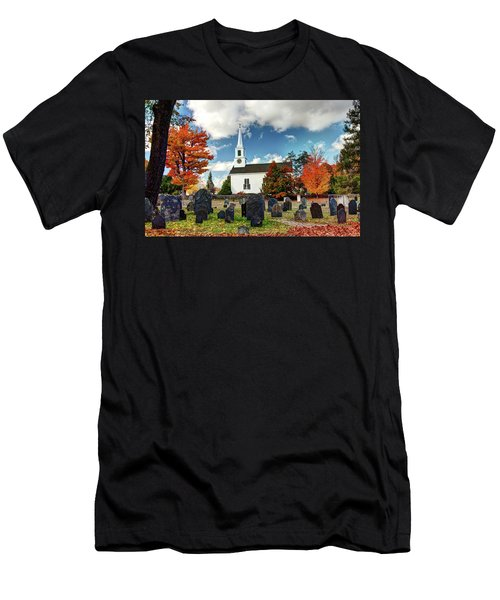 Chester Village Cemetery In Autumn Men's T-Shirt (Athletic Fit)