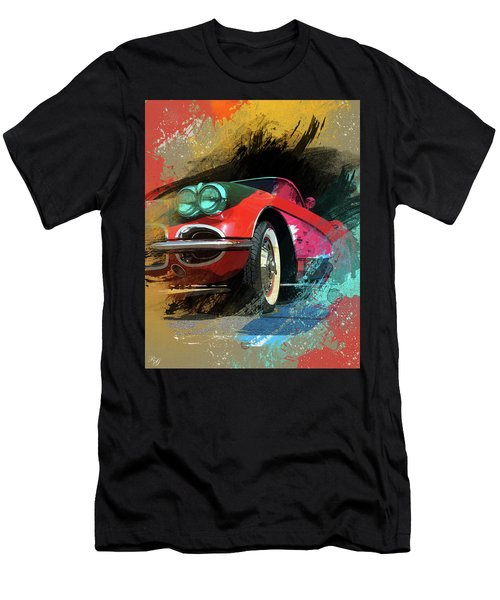 Chevy Corvette Digital Art Men's T-Shirt (Athletic Fit)