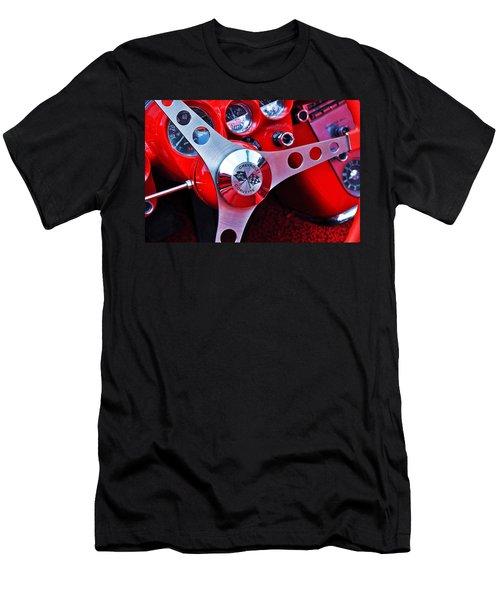 Chevy Corvettte Steering Wheel Men's T-Shirt (Athletic Fit)