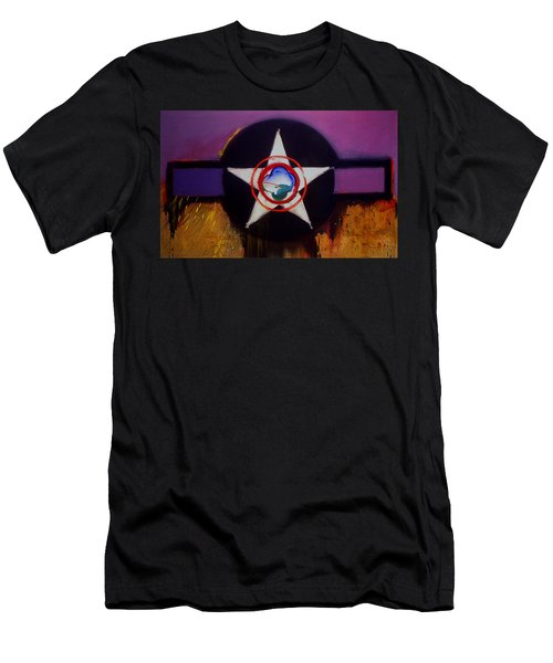 Men's T-Shirt (Slim Fit) featuring the painting Cheyenne Autumn by Charles Stuart
