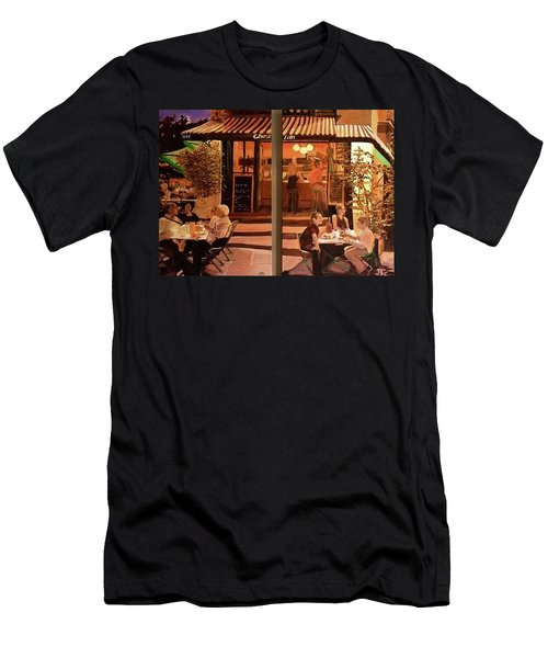 Chez Tim Men's T-Shirt (Slim Fit) by Julie Todd-Cundiff