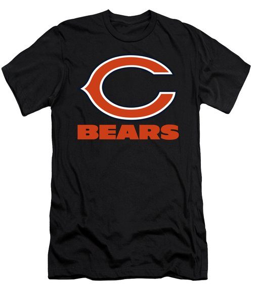 Chicago Bears On An Abraded Steel Texture Men's T-Shirt (Athletic Fit)