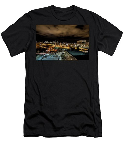 Chicago City And Skyline Men's T-Shirt (Athletic Fit)