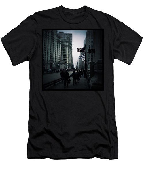 Chicago City Fog Men's T-Shirt (Slim Fit) by Frank J Casella