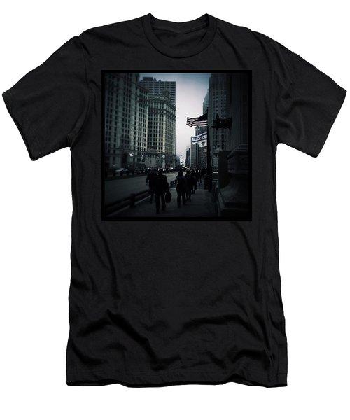 Chicago City Fog Men's T-Shirt (Slim Fit)