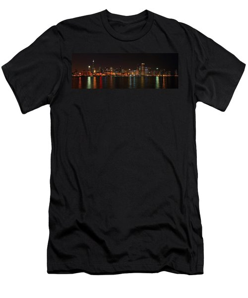 Chicago Panoramic Men's T-Shirt (Athletic Fit)