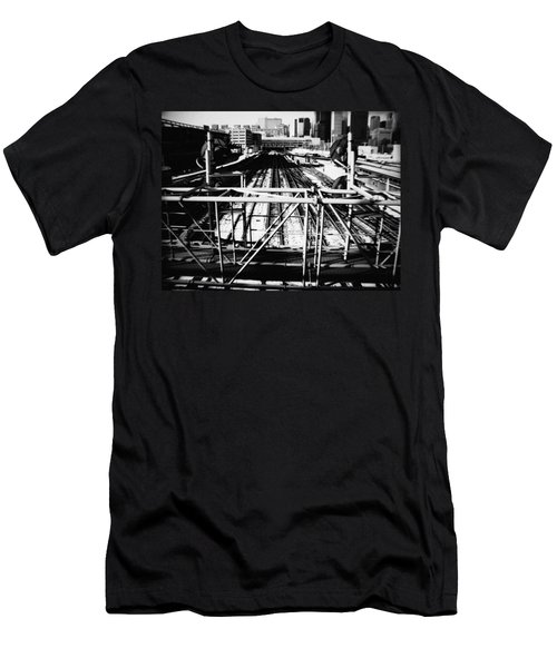 Chicago Railroad Yard Men's T-Shirt (Athletic Fit)