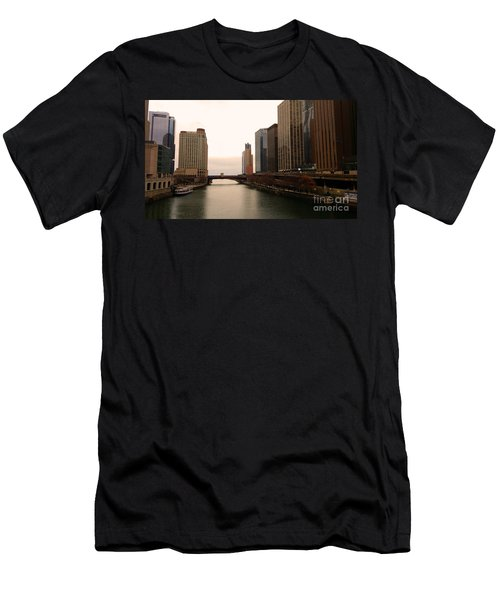 Men's T-Shirt (Slim Fit) featuring the photograph Chicago Rive by Elizabeth Coats