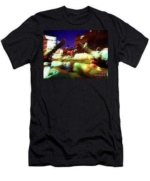 Chicago River Bridge #1  Men's T-Shirt (Athletic Fit)