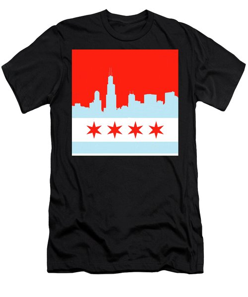 Chicago Skyline 541 1 Men's T-Shirt (Athletic Fit)