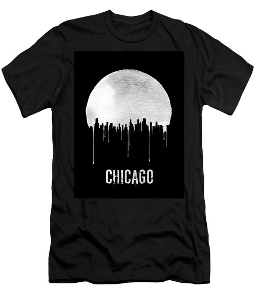Chicago Skyline Black Men's T-Shirt (Athletic Fit)