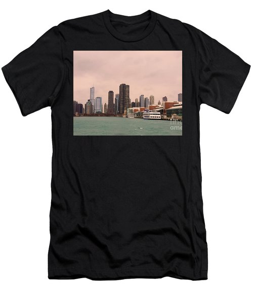 Men's T-Shirt (Slim Fit) featuring the photograph Chicago Skyline by Elizabeth Coats