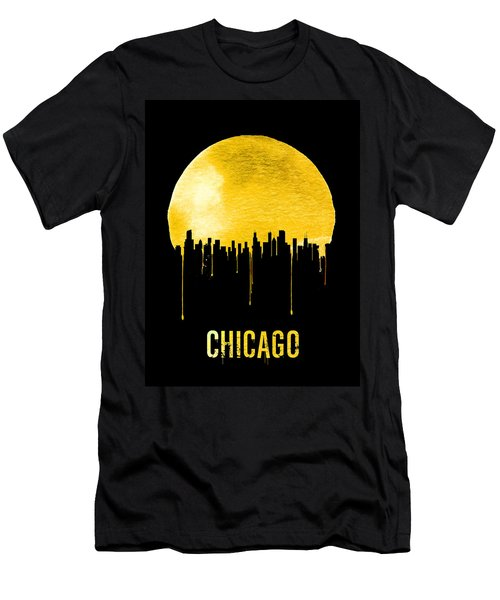 Chicago Skyline Yellow Men's T-Shirt (Athletic Fit)