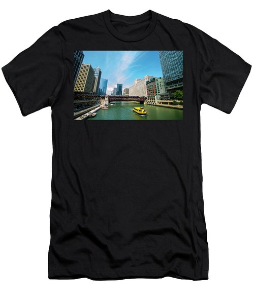 Men's T-Shirt (Slim Fit) featuring the photograph Chicago, That Toddlin' Town by Deborah Smolinske