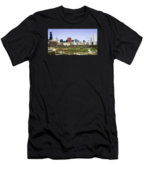 Chicago- The Windy City Men's T-Shirt (Athletic Fit)