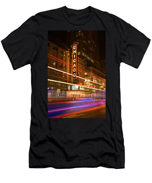 Chicago Theater Marquee Men's T-Shirt (Athletic Fit)