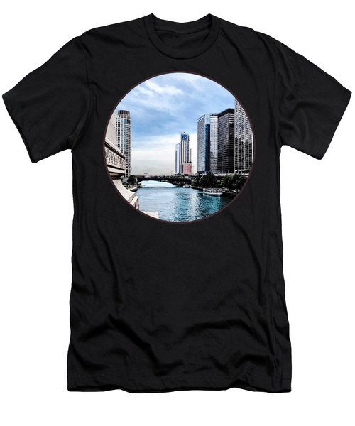 Chicago - View From Michigan Avenue Bridge Men's T-Shirt (Athletic Fit)