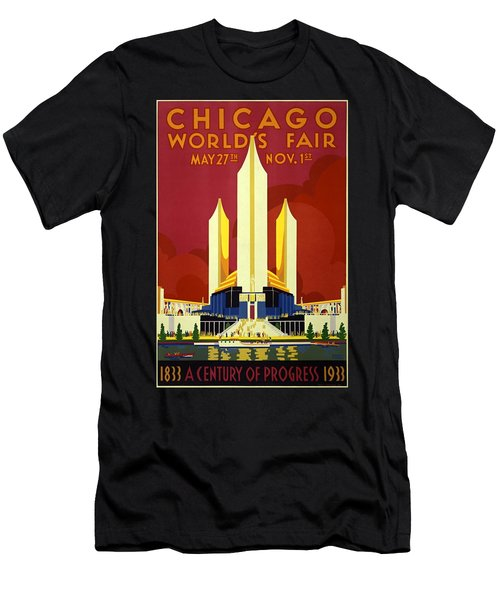 Chicago Worlds Fair 1933 Poster Men's T-Shirt (Athletic Fit)