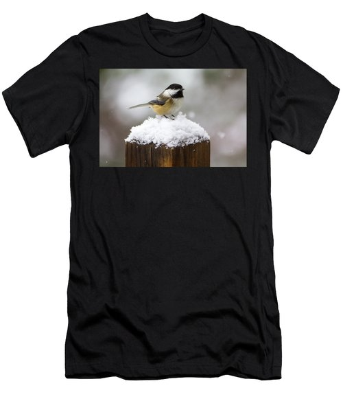 Chickadee In The Snow Men's T-Shirt (Athletic Fit)