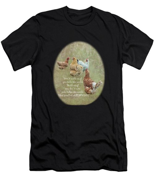 Chickens With Attitude On A Transparent Background Men's T-Shirt (Athletic Fit)
