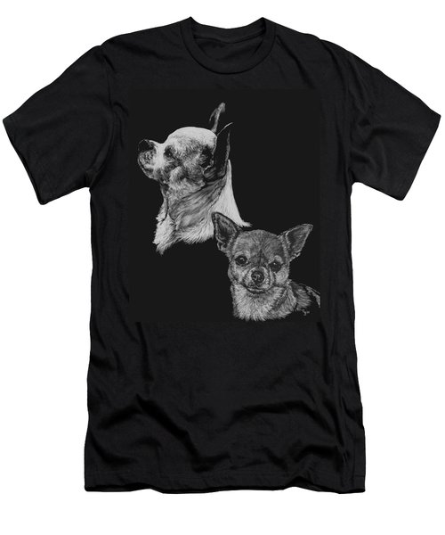 Men's T-Shirt (Slim Fit) featuring the drawing Chihuahua by Rachel Hames