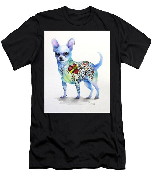 Chihuahua Topo Men's T-Shirt (Slim Fit) by Patricia Lintner