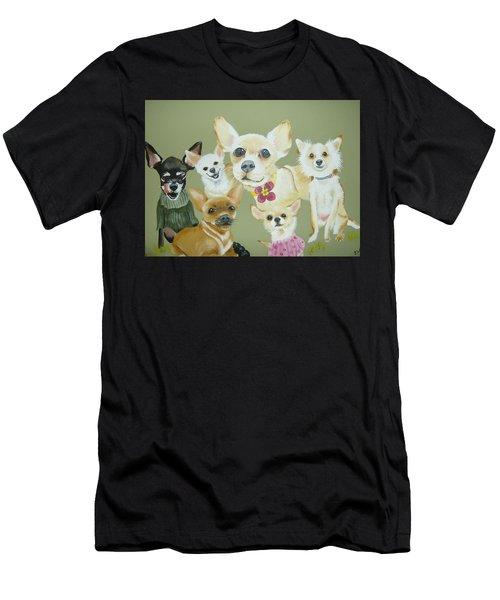 Chihuahuas Men's T-Shirt (Athletic Fit)