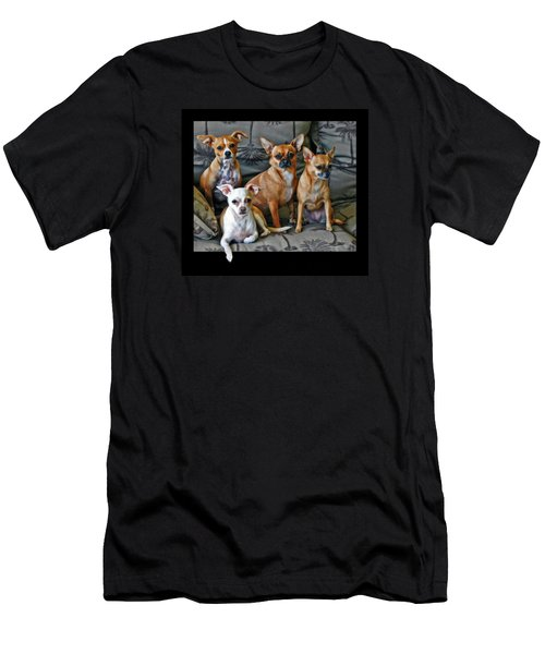 Chihuahuas Hanging Out Men's T-Shirt (Athletic Fit)