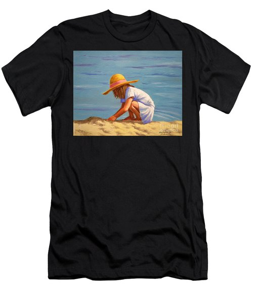 Child Playing In The Sand Men's T-Shirt (Athletic Fit)