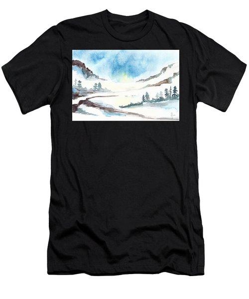 Children's Book Illustration Of Mountains Men's T-Shirt (Athletic Fit)