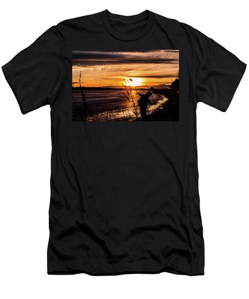 Men's T-Shirt (Athletic Fit) featuring the photograph Childs Play by Tyson Kinnison