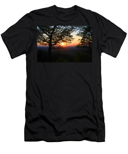 Men's T-Shirt (Slim Fit) featuring the photograph Chilhowee Sunset by Kathryn Meyer