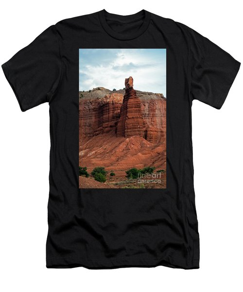 Chimney Rock In Capital Reef Men's T-Shirt (Athletic Fit)