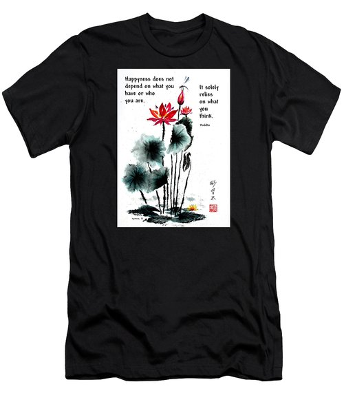 China Garden With Buddha Quote Men's T-Shirt (Athletic Fit)