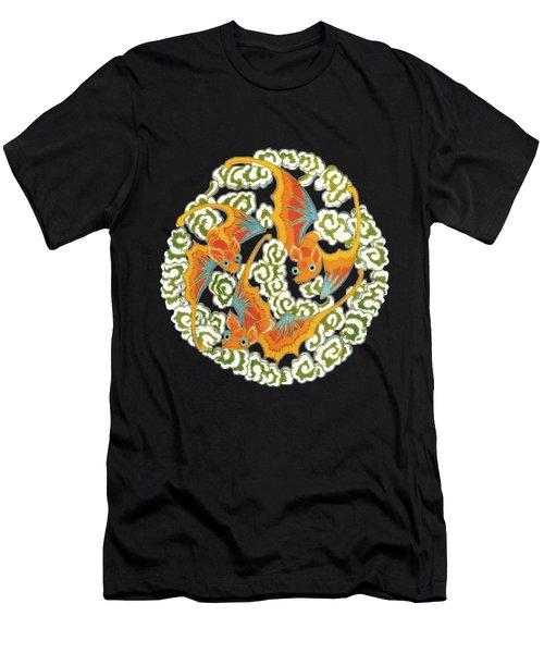 Chinese Bats Tee Shirt Design Men's T-Shirt (Athletic Fit)