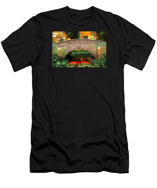 Men's T-Shirt (Athletic Fit) featuring the photograph Chinese Bridge by Beauty For God