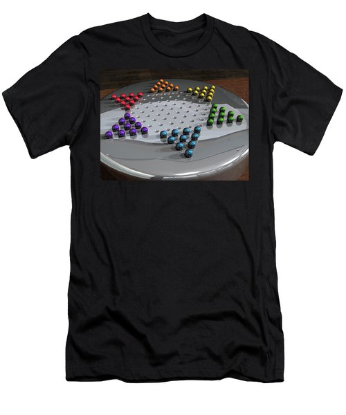 Chinese Checkers Men's T-Shirt (Athletic Fit)