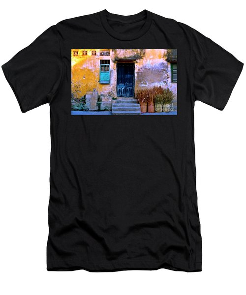 Men's T-Shirt (Athletic Fit) featuring the photograph Chinese Facade Of Hoi An In Vietnam by Silva Wischeropp