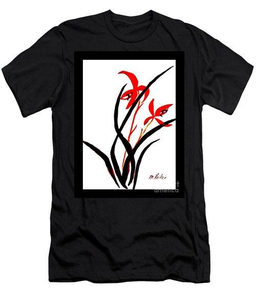 Chinese Flowers Men's T-Shirt (Slim Fit) by Marsha Heiken